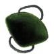 サイザルバッグ Mサイズ マーブル ブラック・ライトグリーン