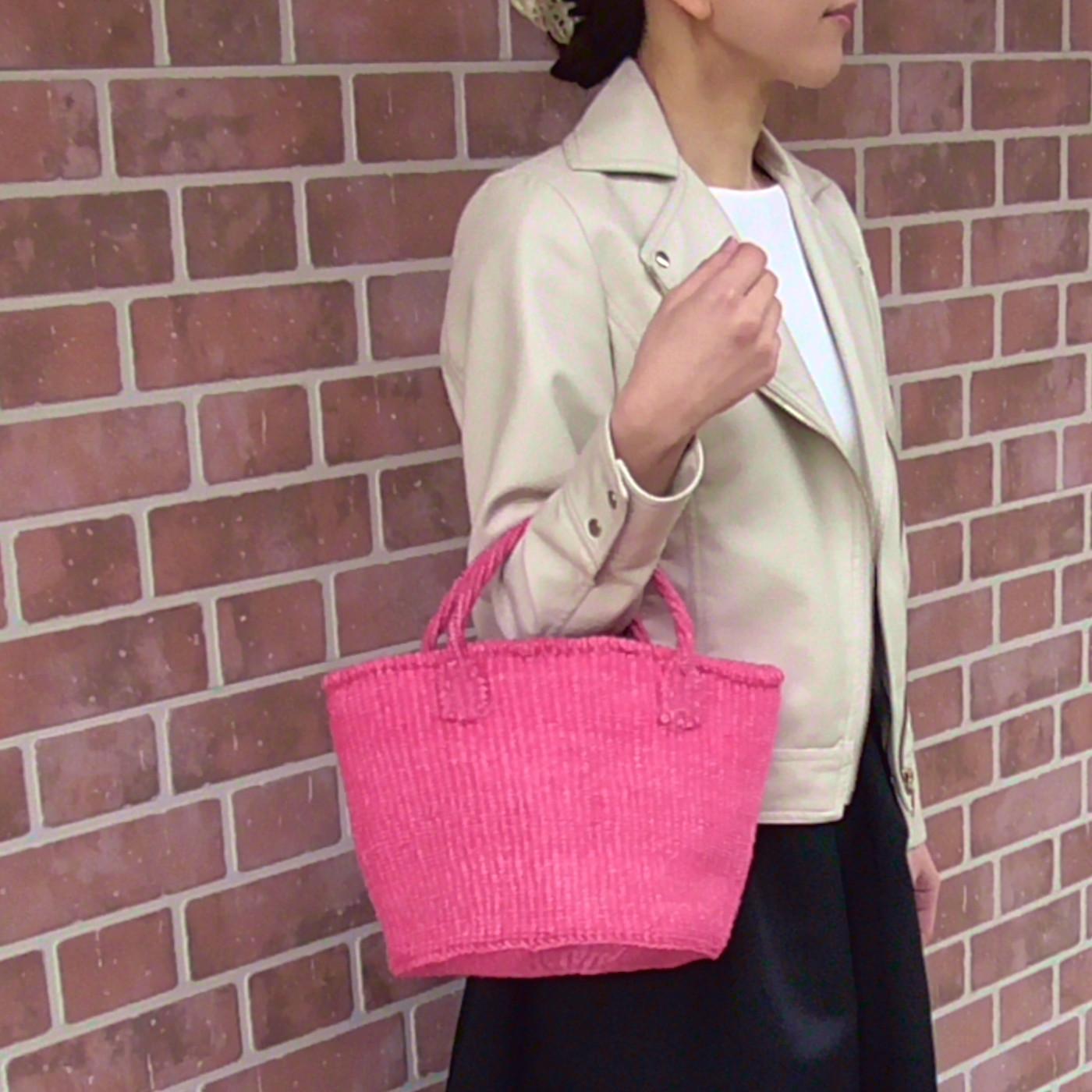 サイザルバッグ Sサイズ ベーシック ピンク