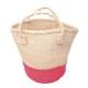 サイザルバッグ Mサイズ ツーピース ナチュラル・ピンク