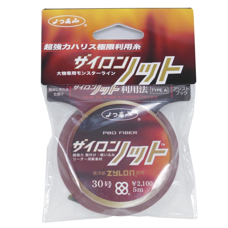 YGK よつあみ <br>ザイロン ノット 30号 5m <br>超強力ハリス極限利用糸 <br>ジギング アシストフック リーダーライン