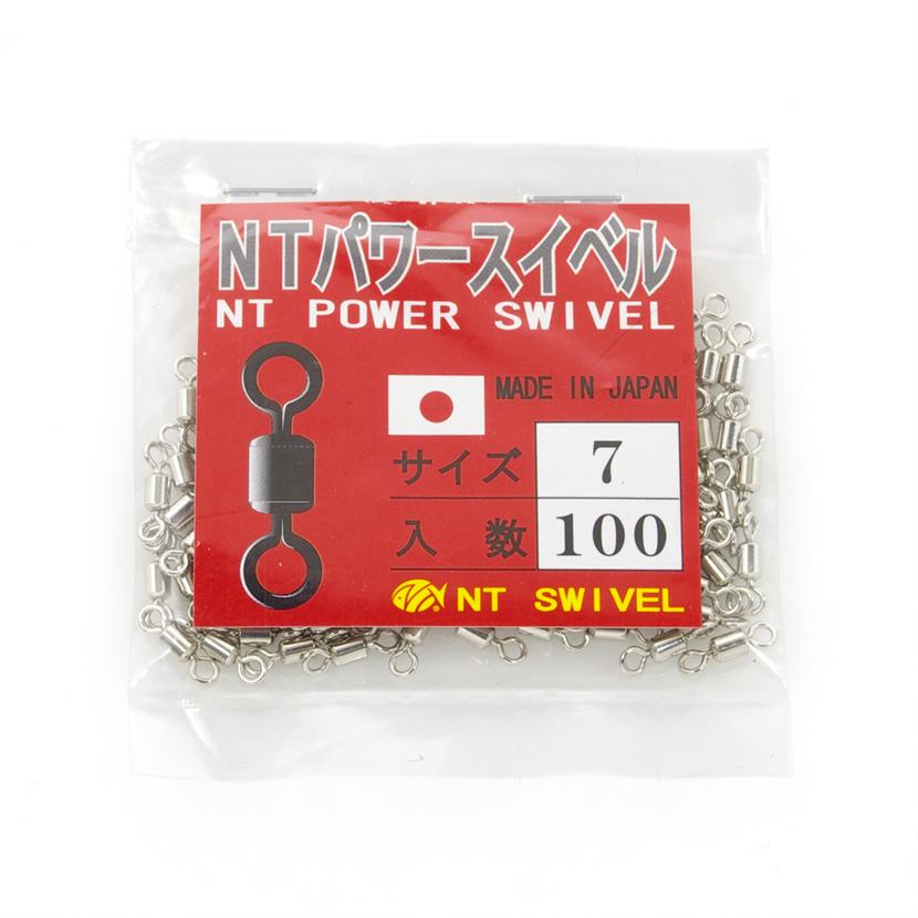 NT SWIVEL:エヌ・ティ・スイベル<br>NTパワースイベル size:7<br>NTPOWER SWIVEL<br>ニッケル/NICKEL