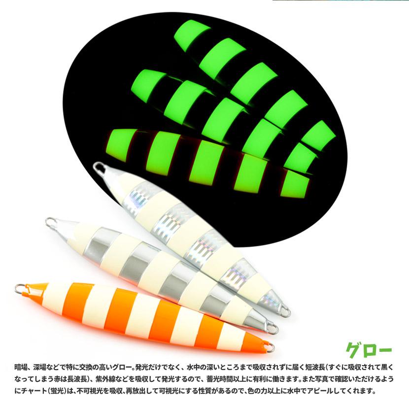 プラチナジグ バサロック 250g グロー PLATINUM JIG 当店限定 別注カラー&ゼブラグロー ジギング メタルジグ