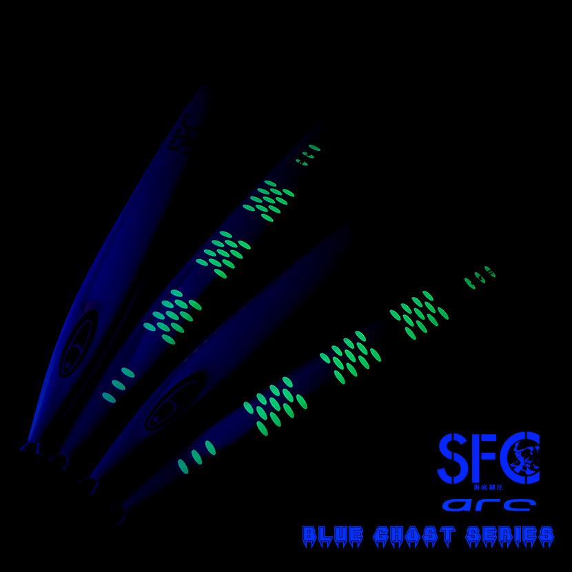 アーク 450g AJ別注カラー ブルーゴーストケイムラコートSPグローシーフロアコントロール SEAFLOOR CONTROL arc ジギング メタルジグ