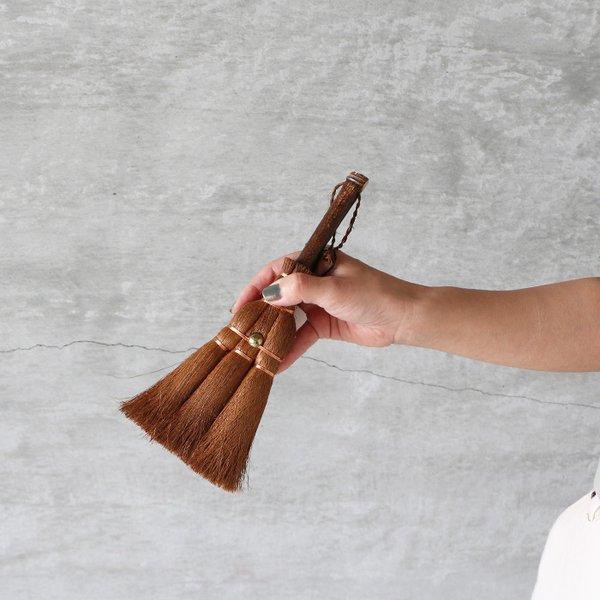 松野屋 まつのや シュロ ダルマ荒神ほうき テーブルやデスク周りの掃除に ゆうパック対応