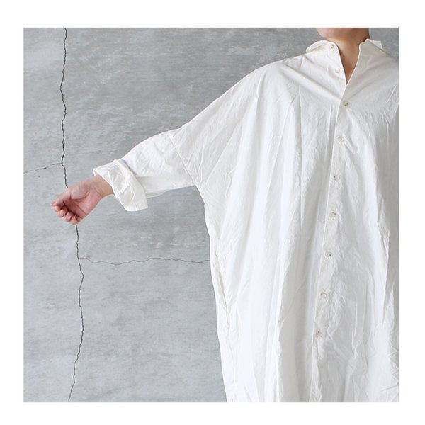 Veritecoeur ヴェリテクール ST-106 ロングシャツ 送料無料 レディース ホワイト グレー ブラック 日本製