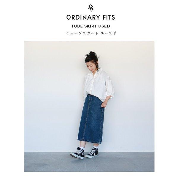 ORDINARY FITS オーディナリーフィッツ TUBE SKIRT USED チューブ デニム スカート ユーズド加工 送料無料 日本製 レディース 2019SS