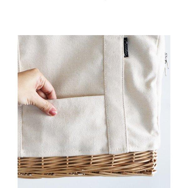 creer クレエ 柳キャンバスランチバッグL メール便不可 柳 保冷 ピクニック 大きいサイズ