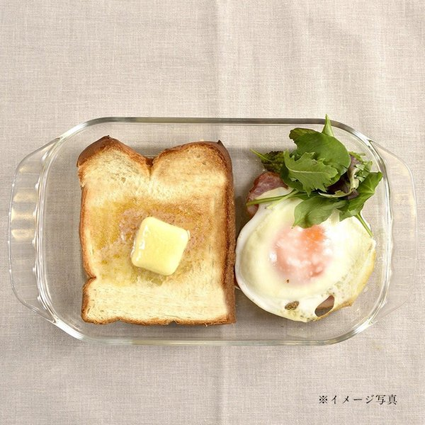 HARIO ハリオ 耐熱ガラス製トースター皿 大 コルクマットセット メール便不可