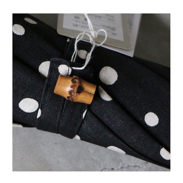 SURMER シュールメール 綿麻シーチング水玉プリント 晴雨兼用長傘 レディース 2020SS 送料無料 日本製 グレー ブラック