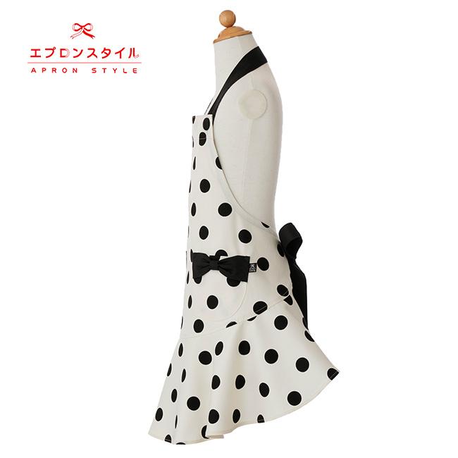 【キッズ】ブラックドットガールズワンピースフレアーキッズSGFR-K20(三角巾付き)