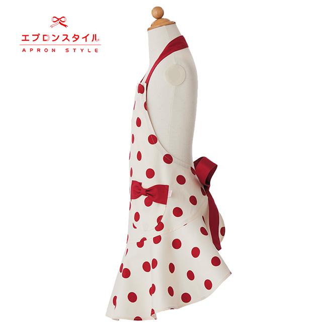 【キッズ】レッドドットガールズワンピースフレアーキッズSGFR-K21(三角巾付き)