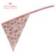 【ジュニア120〜140cm】コーラルピンクフラワーガールズワンピースフレアーエプロン 三角巾付 /SGFR-J22