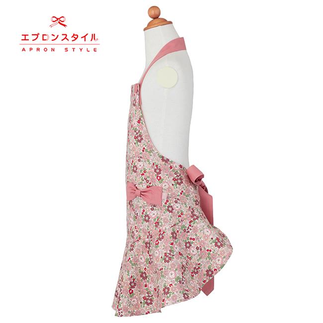 【キッズ】コーラルピンクフラワーガールズワンピースフレアーキッズSGFR-K22(三角巾付き)