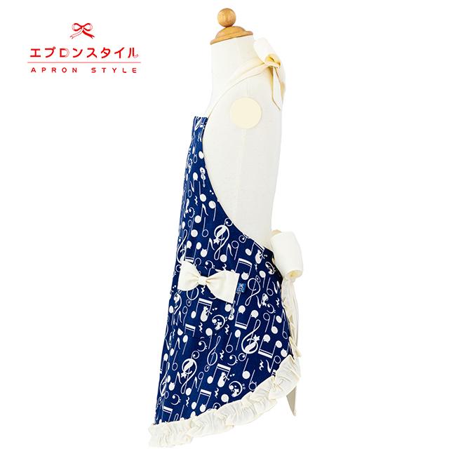 SFC-109ブルーキャットスイートフリルエプロン(三角巾付き)【キッズ】