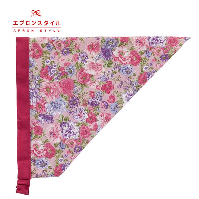 【キッズ】ルビーピンクローズガールズワンピースフレアーキッズSGFR-K40(三角巾付き)