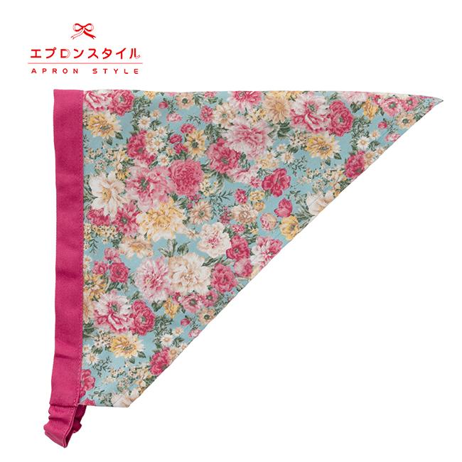 【キッズ】ロイヤルサックスローズガールズワンピースフレアーキッズSGFR-K41(三角巾付き)