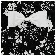 ブラックローズガールズワンピースフレアーエプロン【シュシュ付き】 SGFR34