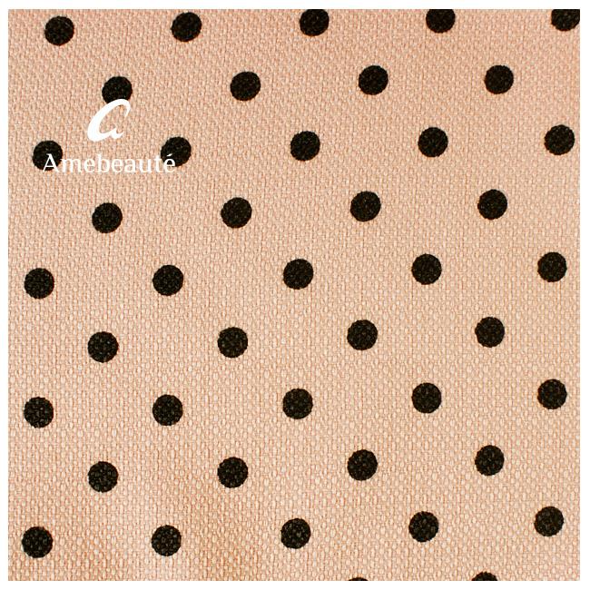 ピンク地ブラック水玉 おもてなしエプロンエール AOE04