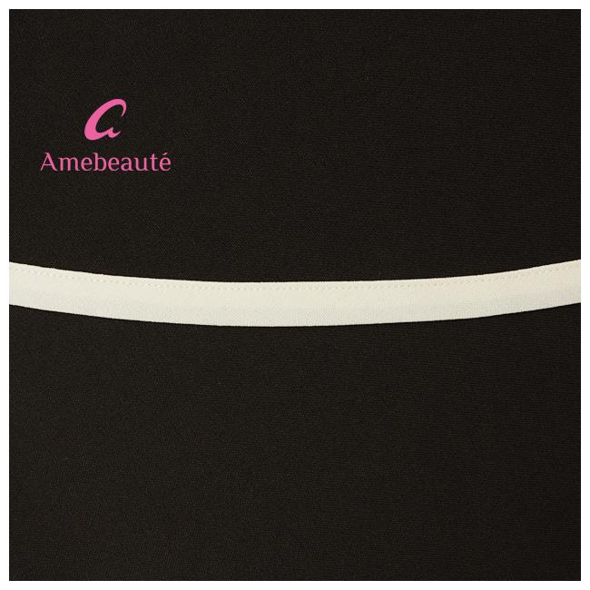 【Mサイズ/Lサイズ】ブラック&アイボリー ティアードフレアーエプロン ATFR03