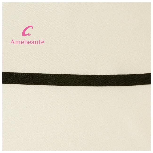 【Mサイズ/Lサイズ】アイボリー&ブラック ティアードフレアーエプロン ATFR04