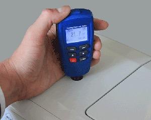 塗装膜厚計「デュアル膜厚計0.1μm,校正標準片7枚,USB」