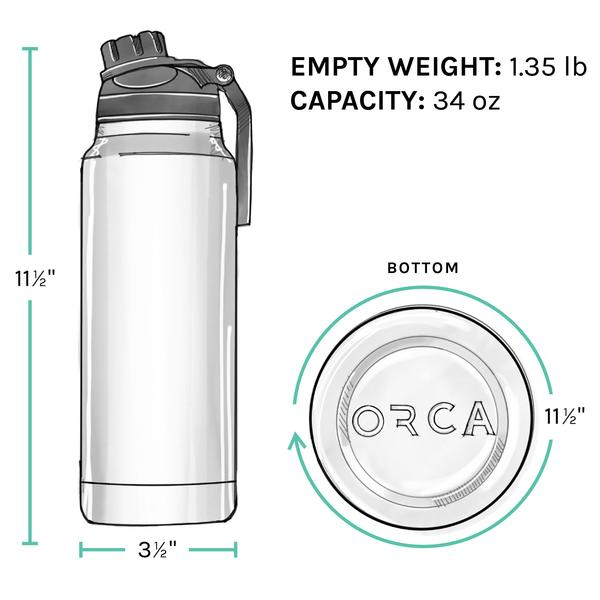 ORCA Bottle 34oz Tan/Black/Tan