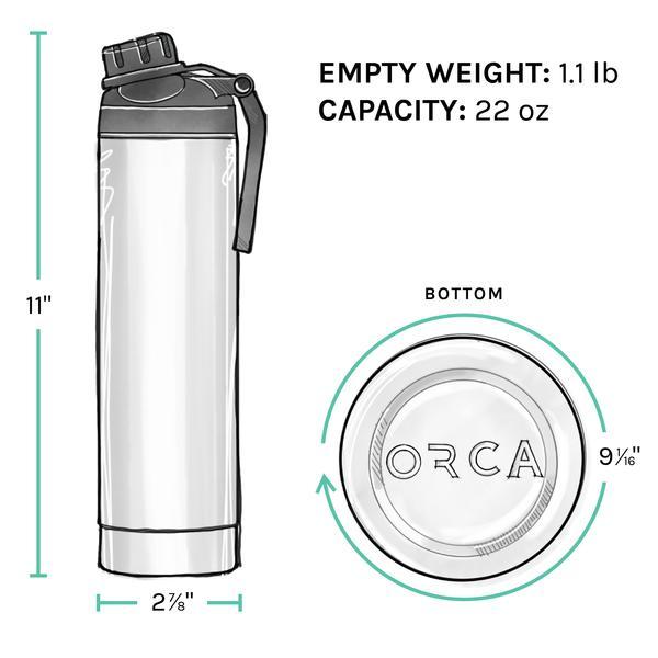 ORCA Bottle 22oz Tan/Black/Tan