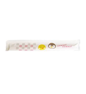 子供用完封箸樺元禄16.5cmひよこ柄【入数4000膳】
