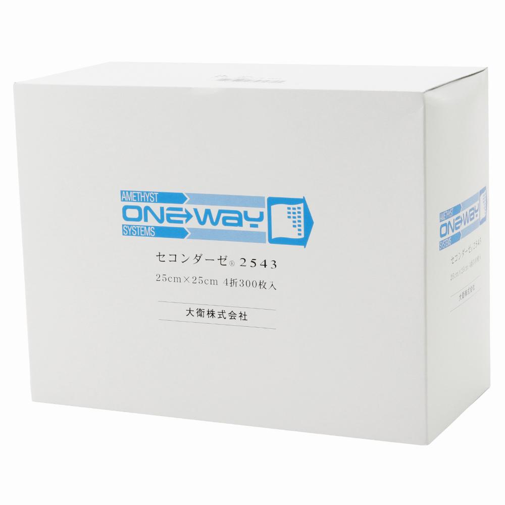 セコンダーゼ2543 300枚入×6個セット   ※送料無料 不織布ガーゼ 介護 ネイル 大衛 アメジスト 病院 日本製 ストマ 褥創 床ずれ まとめ買い