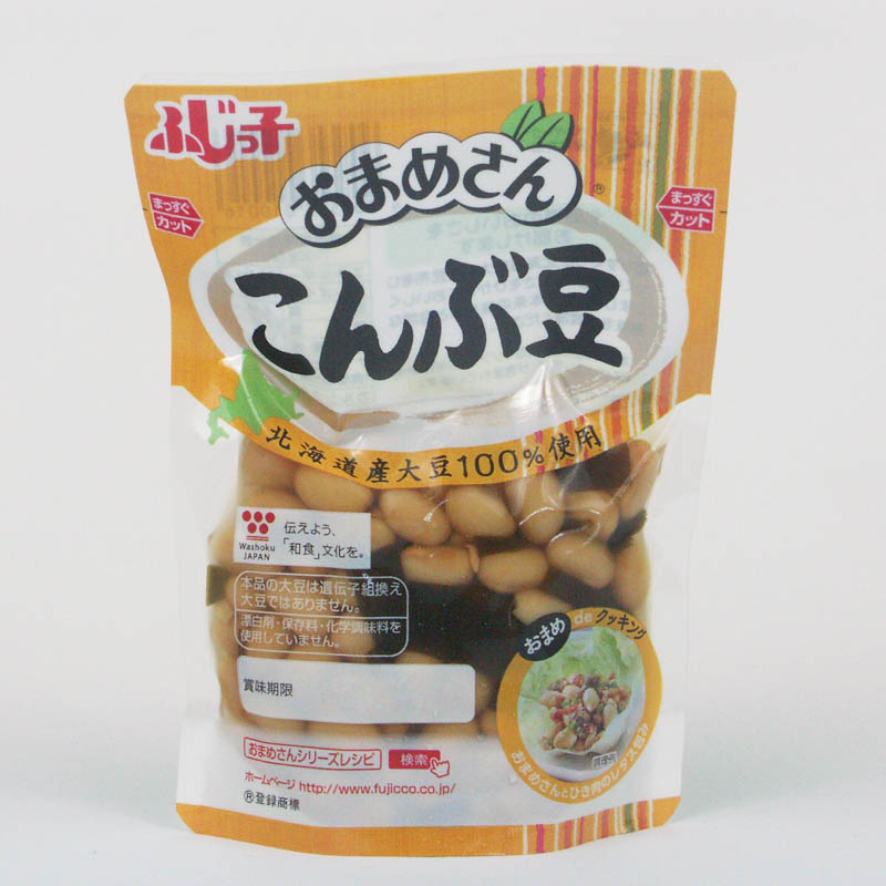 ふじっ子 おまめさん こんぶ豆 155g