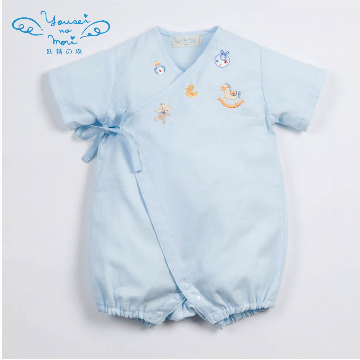 ガーゼグレコ(ブルー・ピンク) YH125/YH126(ベビー服)