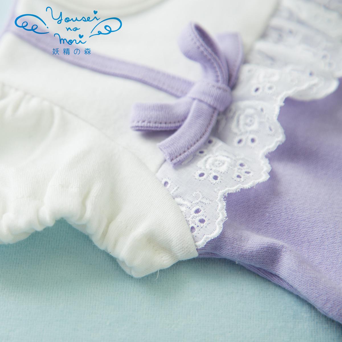 パフスリーブのリボンドレス w-YA012 (ベビー服)