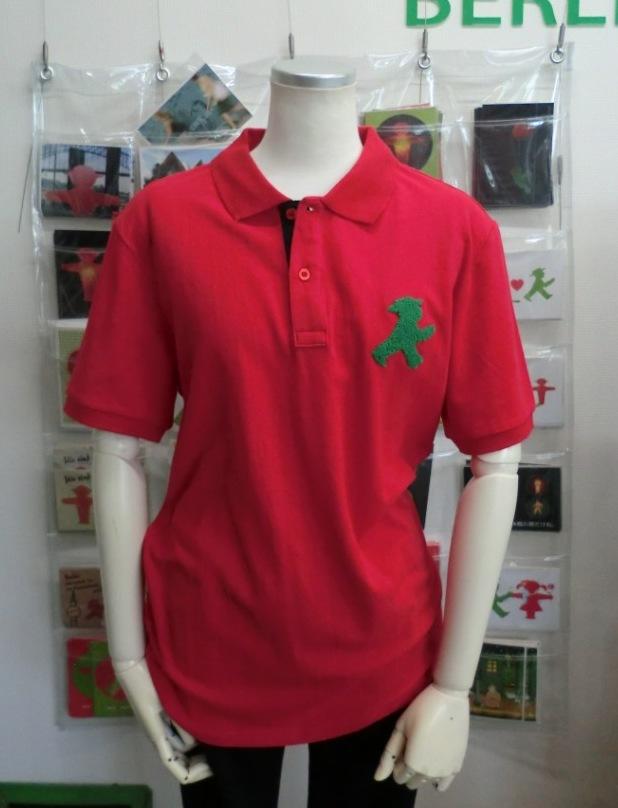 ユニセックス ポロシャツ/赤 モコモコGO