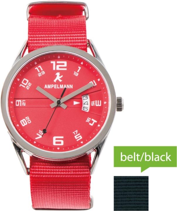 腕時計 クォーツ ラウンド 赤 ASC-4977-19