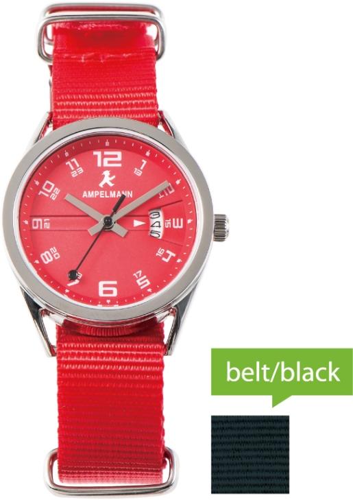腕時計 クォーツ ラウンド 赤 ASC-4978-19