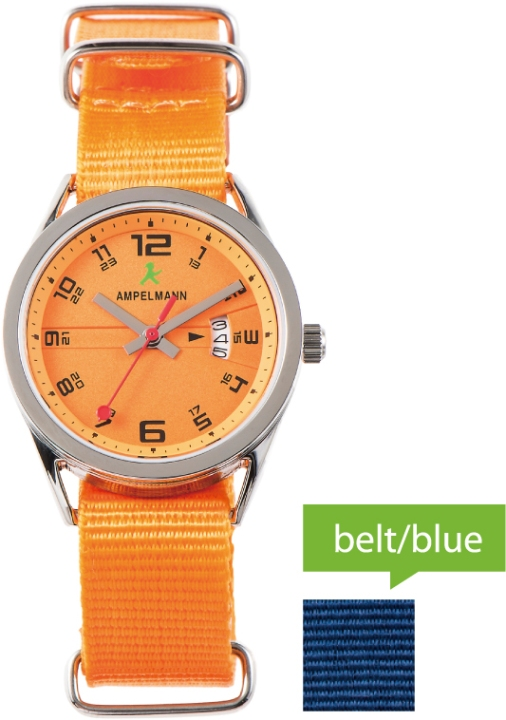 【クォーツ腕時計】ラウンド/オレンジ/ASC-4978-26