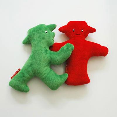 アンペルマン人形(ガラガラ)GO  緑