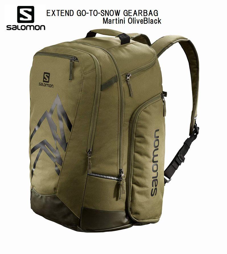 サロモン 2021 SALOMON EXTEND GO-TO-SNOW GEARBAG LC1415400 Martini OliveBlack 50L サロモン ブーツバック バックパック