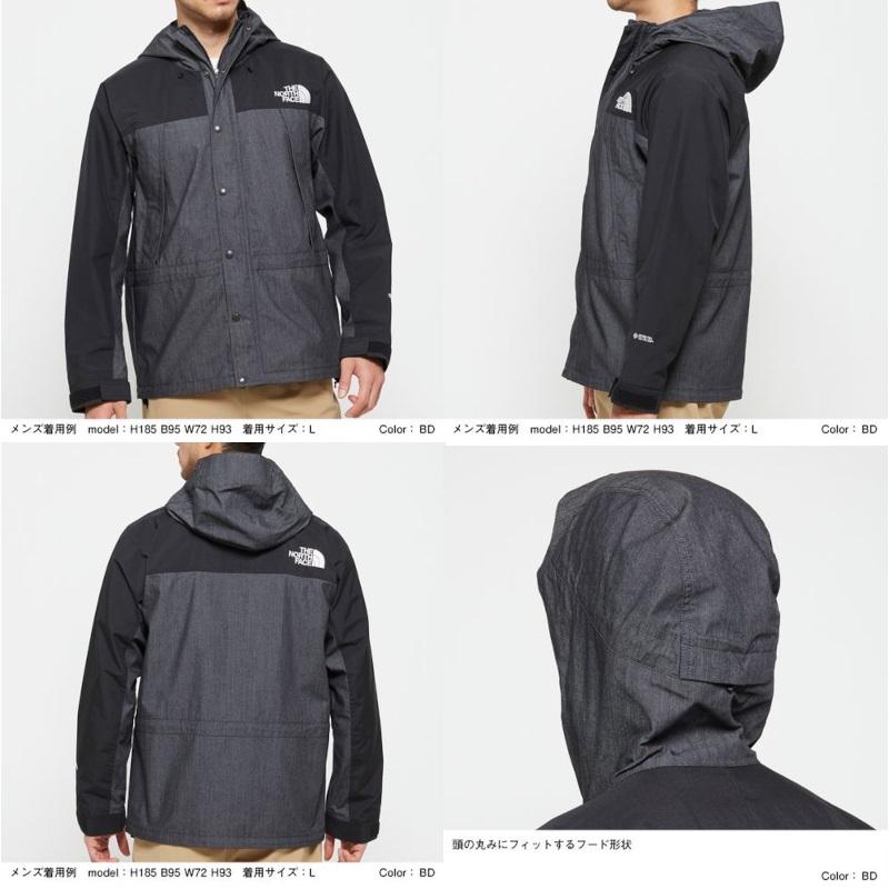 ザ ノースフェイス THE NORTH FACE Mountain Light Denim Jacket ID ナイロンインディゴデニム マウンテンライトデニムジャケット メンズ
