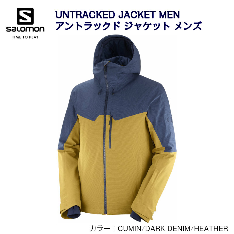 サロモン 2021 SALOMON UNTRACKED JACKET MEN LC1402400 CUMIN DARK DENIM HEATHER