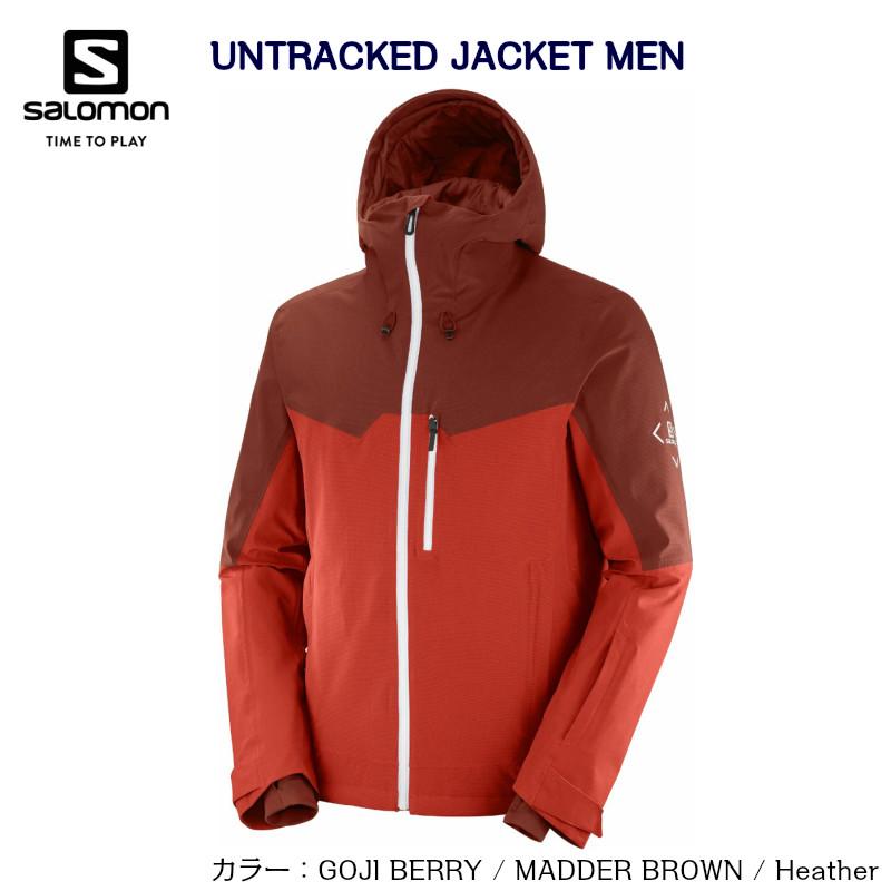 サロモン 2021 SALOMON UNTRACKED JACKET MEN LC1402700 Goji Berry MADDER BROWN Heather スキー ジャケット