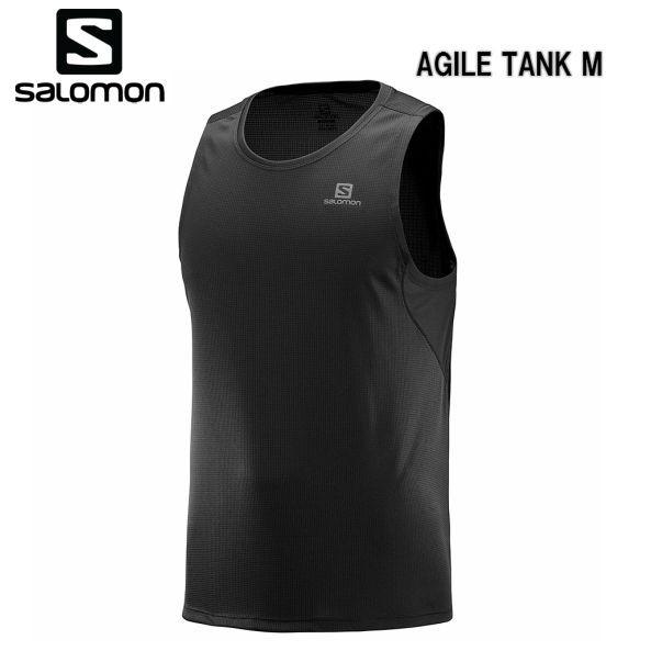 サロモン SALOMON 19SS AGILE TANK M サロモン タンクトップ メンズ LC1035900 BLACK トレイルランニング タンク