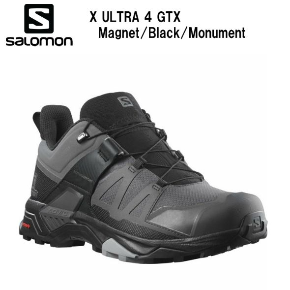 サロモン SALOMON 21SS X ULTRA 4 GTX Magnet/Bk/Monumen トレラン メンズ 男性用 トレーニング ロードランニング シューズ L41287000