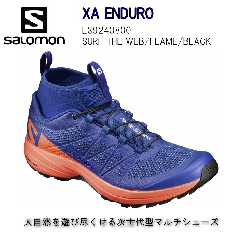 サロモン 50%OFF SALOMON 18SS XA ENDURO SURF THE WEB FLAME BLACK トレランシューズ  メンズ L39240800 トレイルランニング シューズ 送料無料
