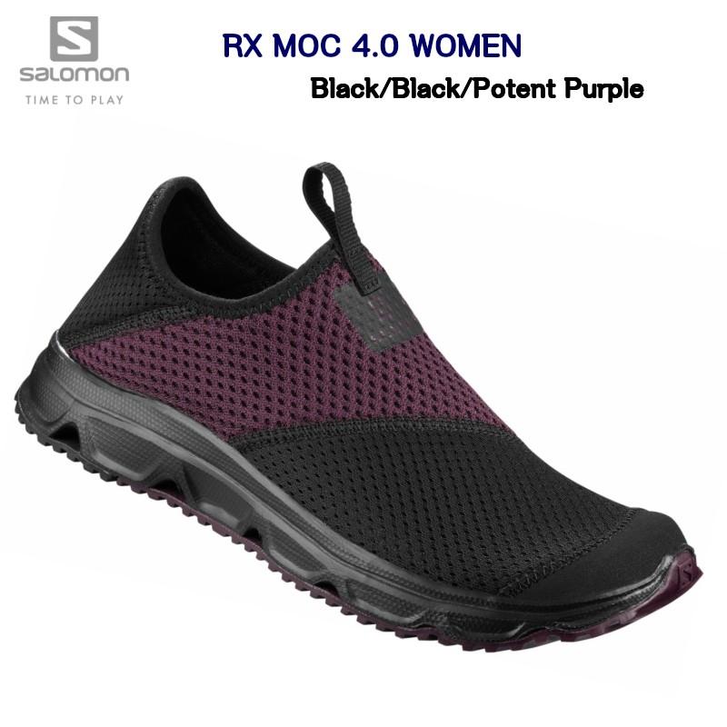 サロモン 20SS SALOMON RX MOC 4.0 Women Black Black Potent Purple L40674100 リラックス リカバリー シューズ サンダル レディス