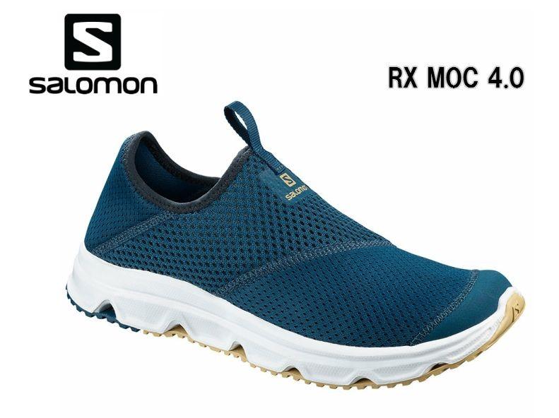 サロモン SALOMON 20SS RX MOC 4.0 Poseidon L40600900 サロモントレラン メンズトレーニング ランニング リカバリーシューズ スリッポン