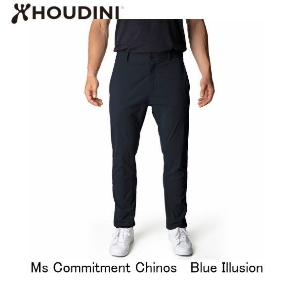 HOUDINI Ms Commitment Chinos Blue Illusion メンズ コミットメント パンツ アウトドア