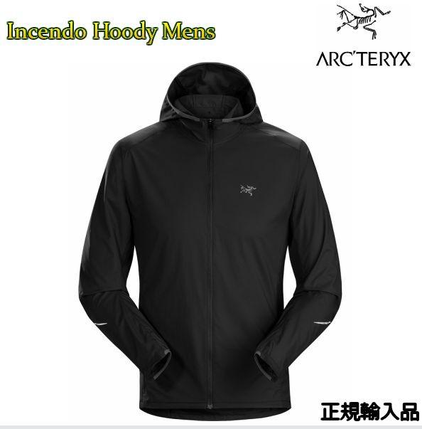 アークテリクス ARC'TERYX Incendo Hoody Men Black 正規品 防風 ジャケット l06989600 送料無料