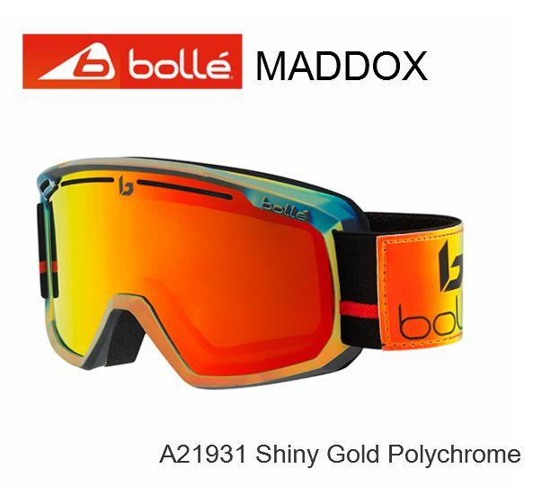 ボレー BOLLE MADDOX Shiny Gold Polychrome マドックス ゴーグル スキー スノボ A21931 ジャパンフィット BOLLE ボレー スキー スノボ ゴーグル JapanFit