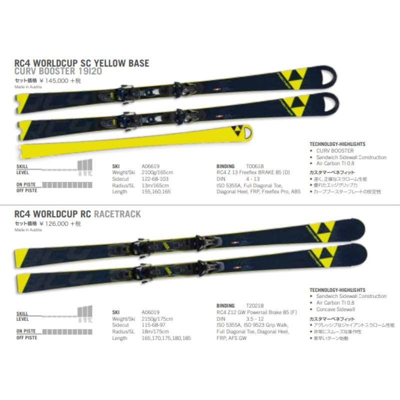 【訳アリ】錆有 フィッシャー 2020 FISCHER RC4 WORLDCUP RC RACETRACK + RC4 Z12 GW PR B85 スキー レーシング